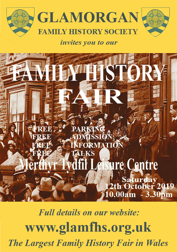 Annual Fair - Saturday 12 October - Merthyr Leisure Centre